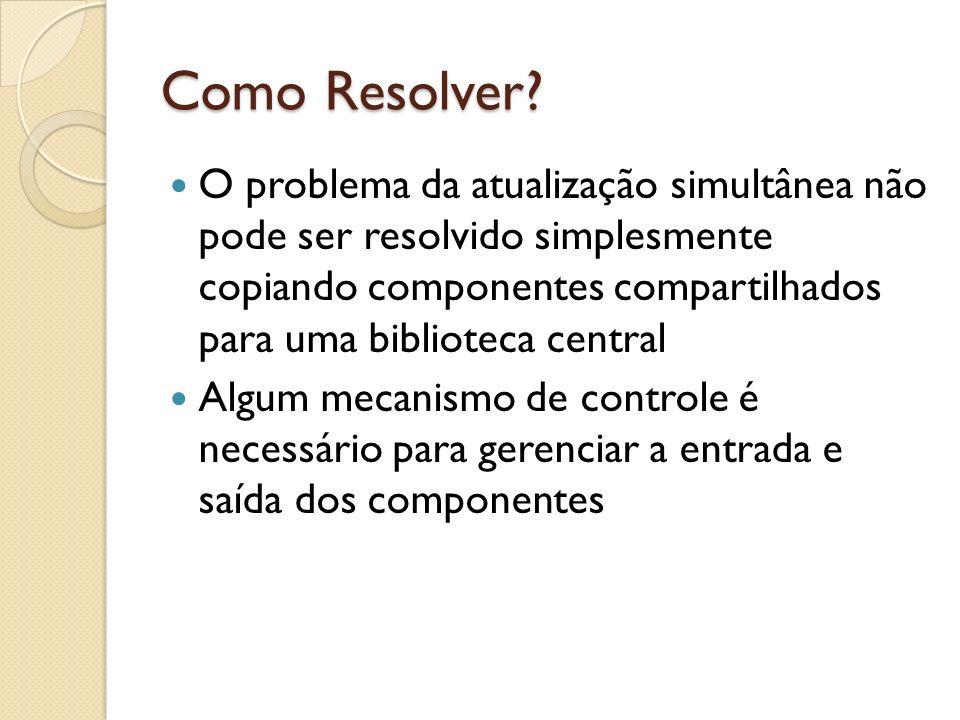 Como Resolver? O problema da atualização simultânea não pode ser resolvido simplesmente copiando componentes compartilhados para uma biblioteca centra