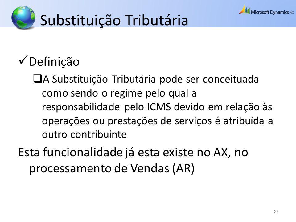Substituição Tributária Definição A Substituição Tributária pode ser conceituada como sendo o regime pelo qual a responsabilidade pelo ICMS devido em