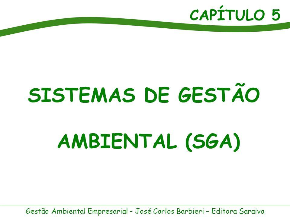 CAPÍTULO 5 Gestão Ambiental Empresarial – José Carlos Barbieri – Editora Saraiva Sistema é um conjunto de partes inter-relacionadas.