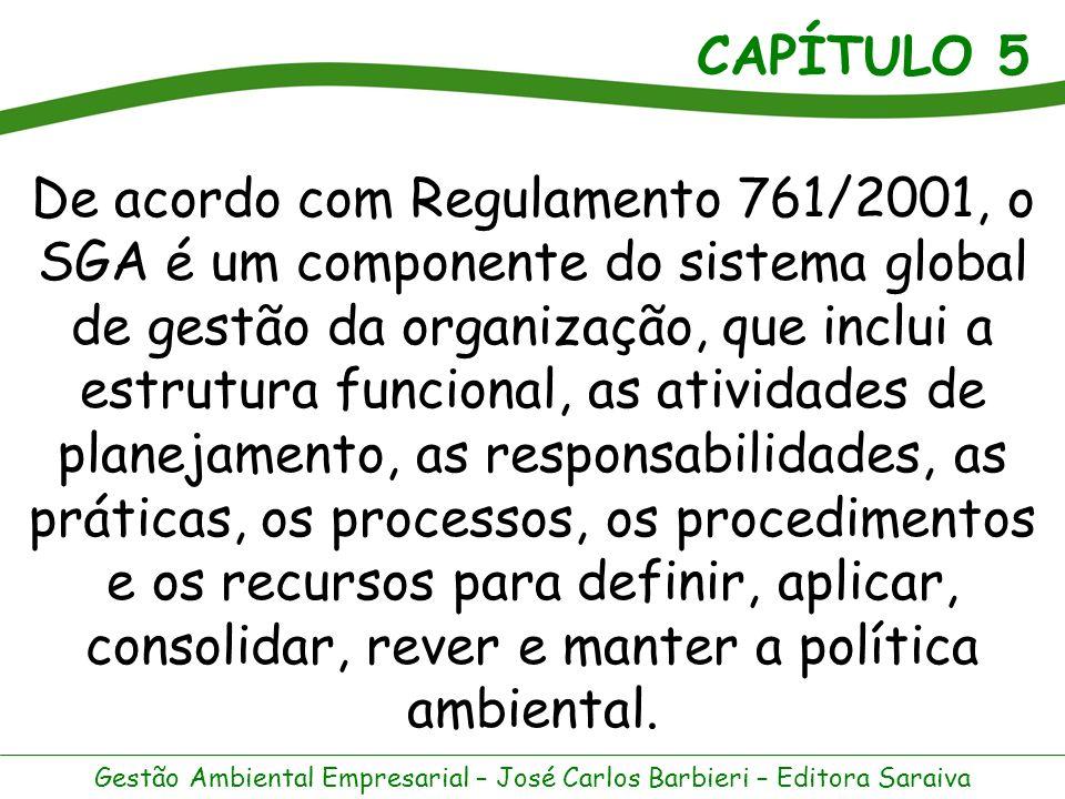 CAPÍTULO 5 Gestão Ambiental Empresarial – José Carlos Barbieri – Editora Saraiva Dentre as iniciativas de auto- regulamentação, estão as normas voluntárias relativas aos SGAs que começaram a ser elaboradas de modo mais intenso a partir de meados da década de 1990.