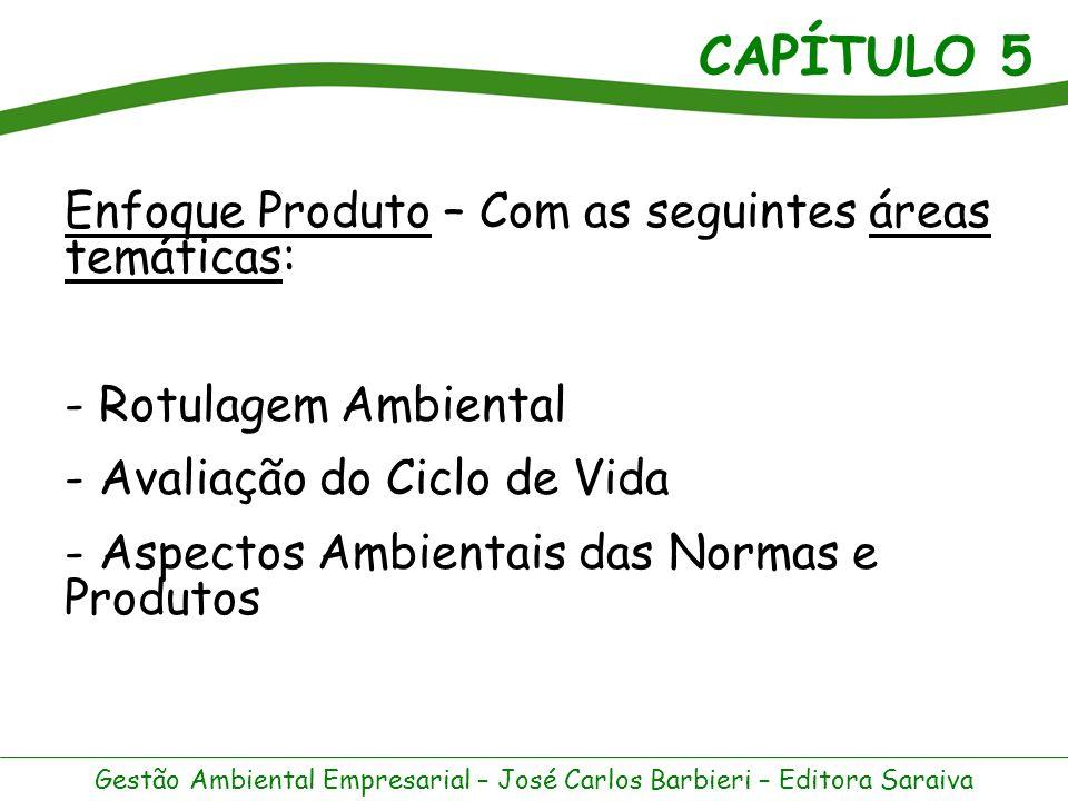 CAPÍTULO 5 Gestão Ambiental Empresarial – José Carlos Barbieri – Editora Saraiva A avaliação do ciclo de vida (ACV) é um instrumento de gestão ambiental aplicável a bens e serviços.