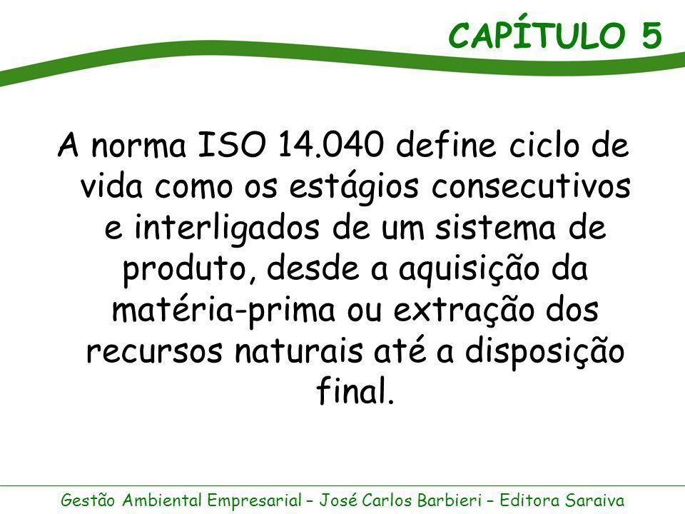 CAPÍTULO 5 Gestão Ambiental Empresarial – José Carlos Barbieri – Editora Saraiva As normas ISO 14.000 classificam os rótulos ambientais em três tipos.