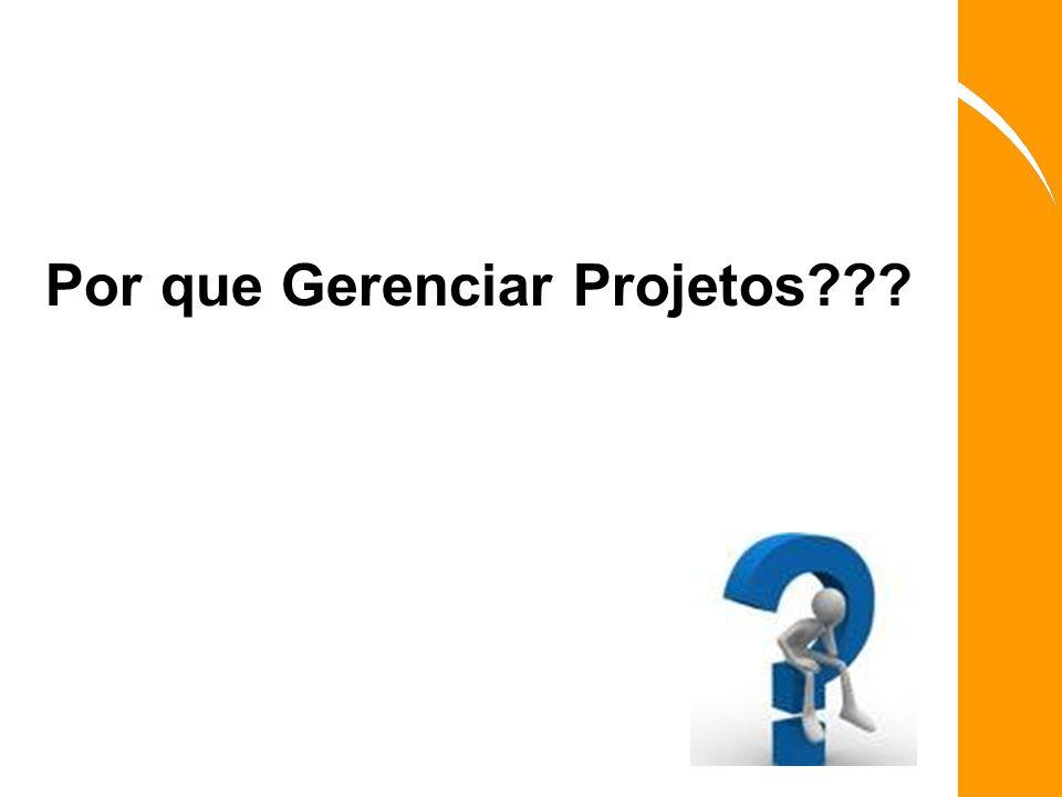 Por que Gerenciar Projetos???