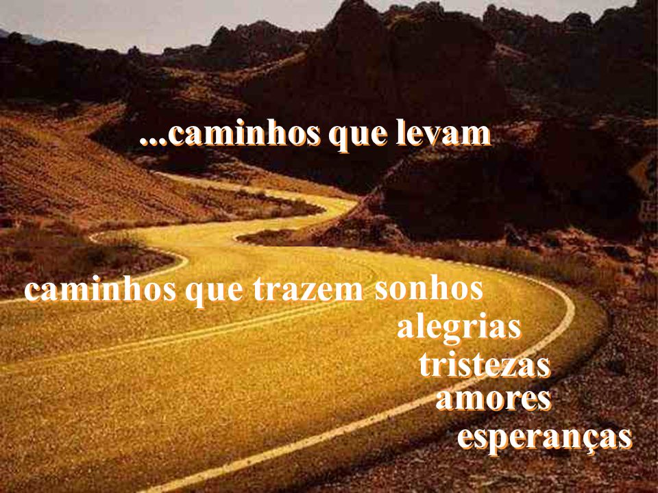 A vida é feita de caminhos...