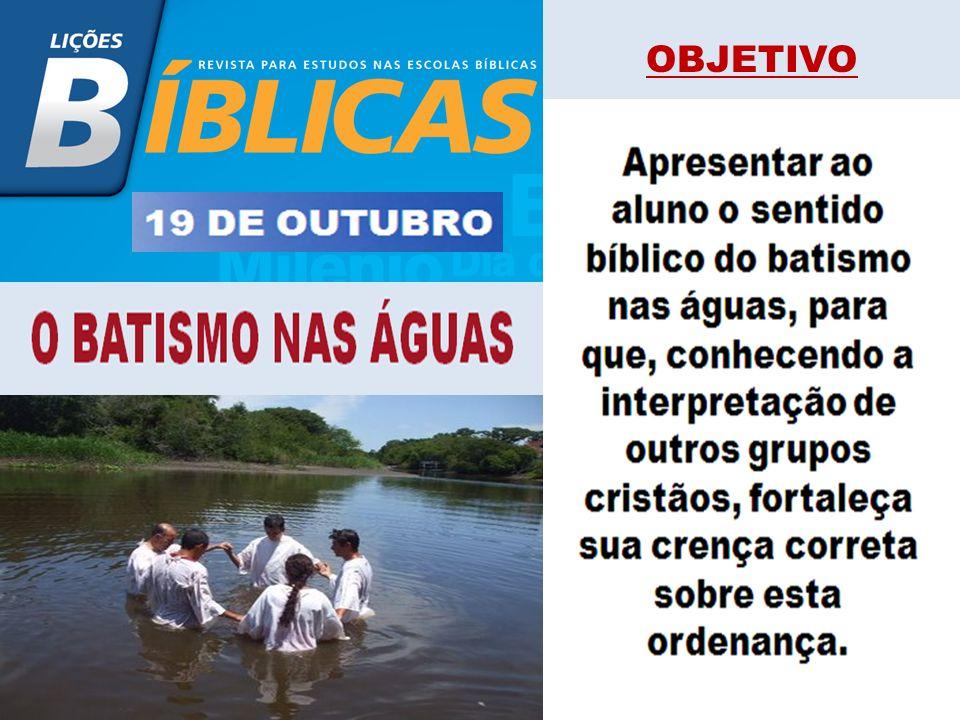 OBJETIVO Ajudar o estudante da Escola Bíblica a entender correta- mente e defender o batismo no Espírito Santo, bem como incentivá-lo a buscar o cumpr