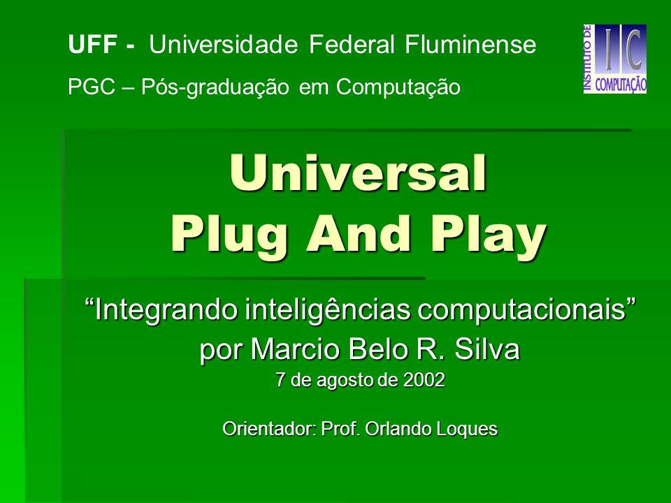 Universal Plug And Play Integrando inteligências computacionais por Marcio Belo R.