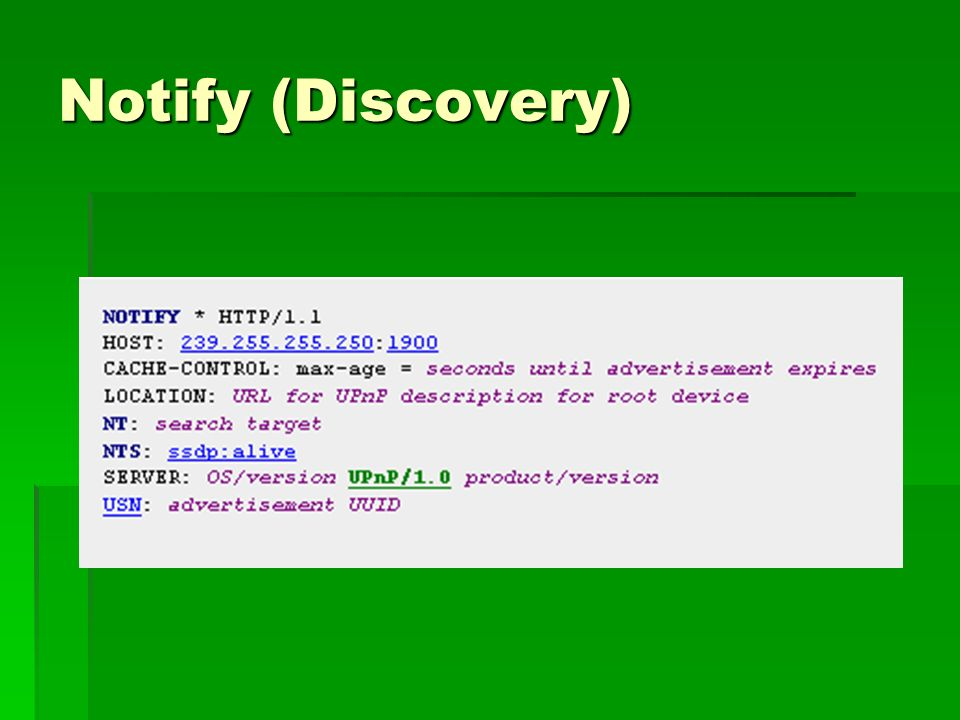 Notify (Discovery)