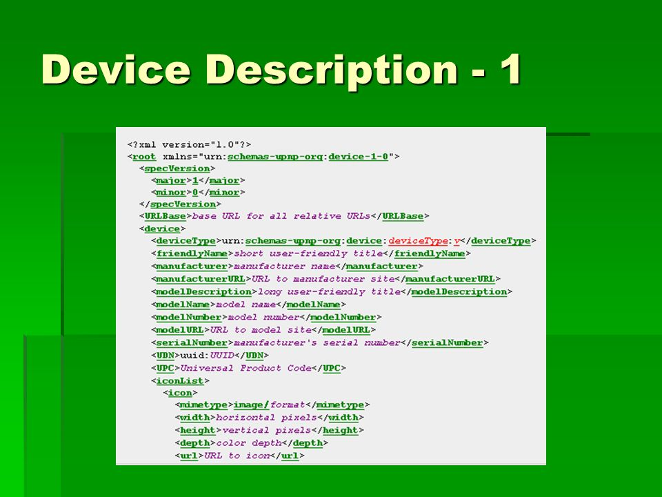 Device Description - 1