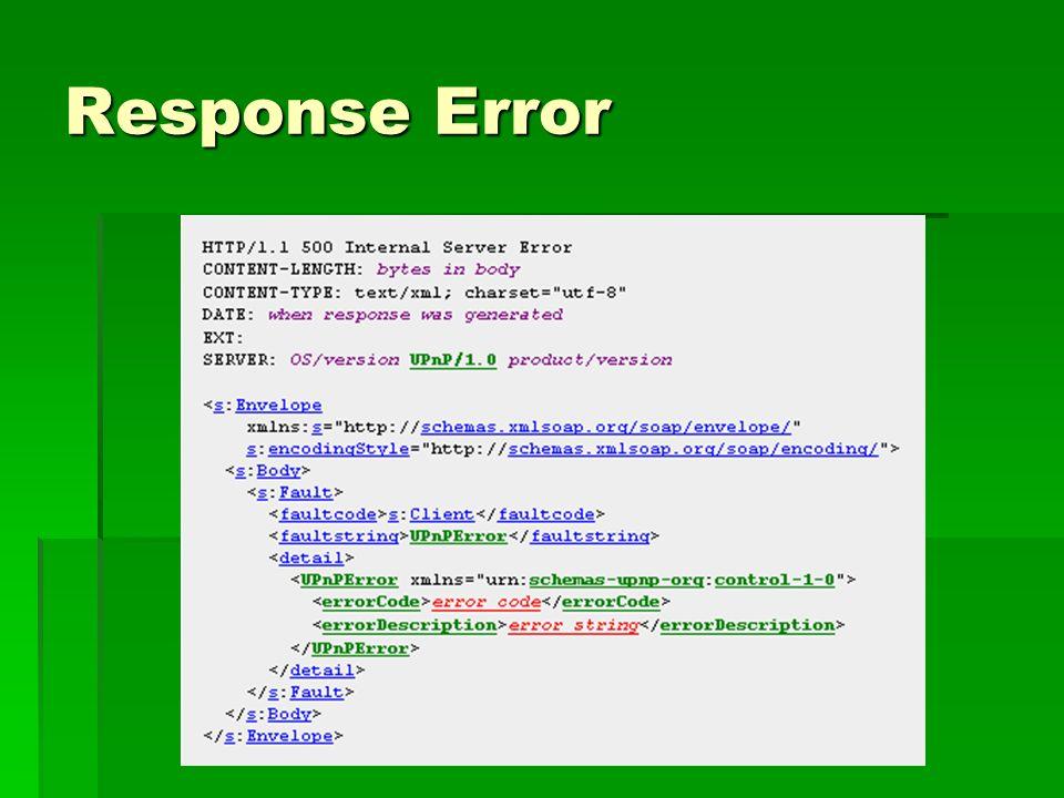 Response Error