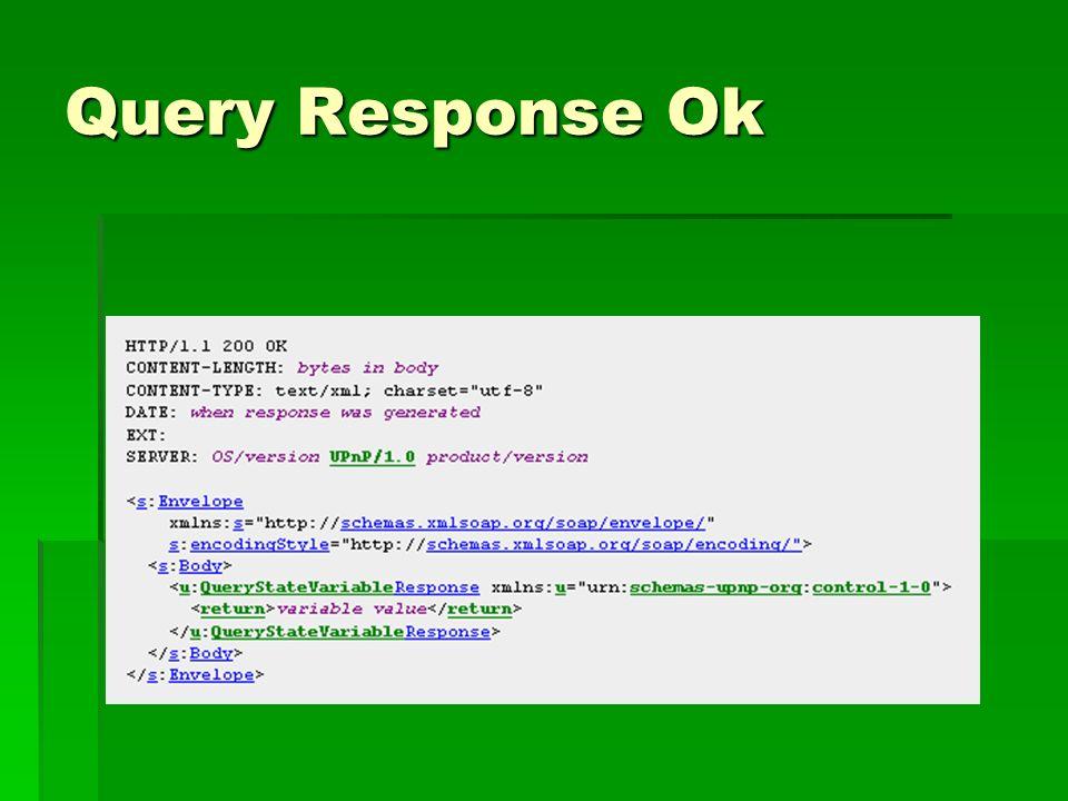 Query Response Ok