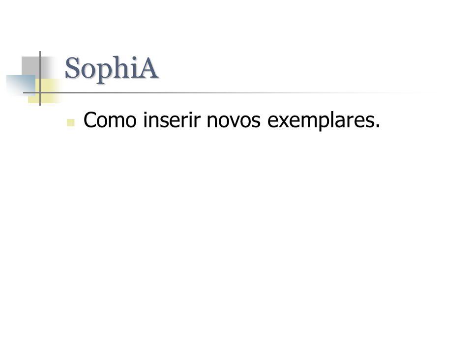 SophiA Como inserir novos exemplares.