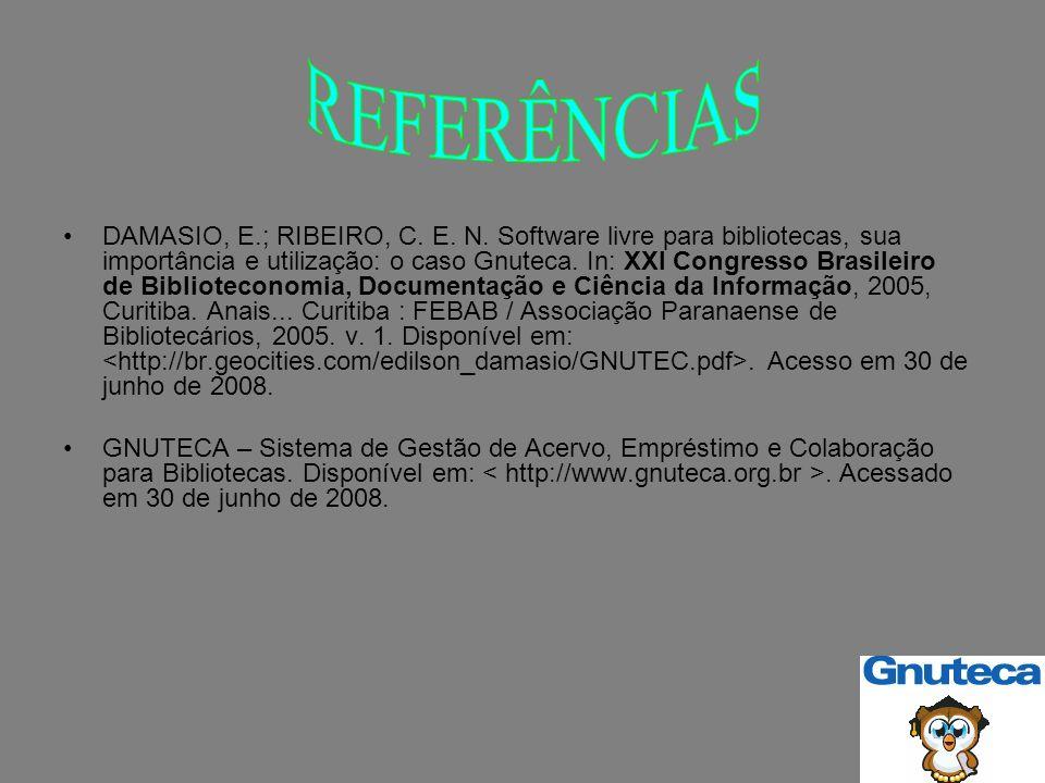 DAMASIO, E.; RIBEIRO, C. E. N.