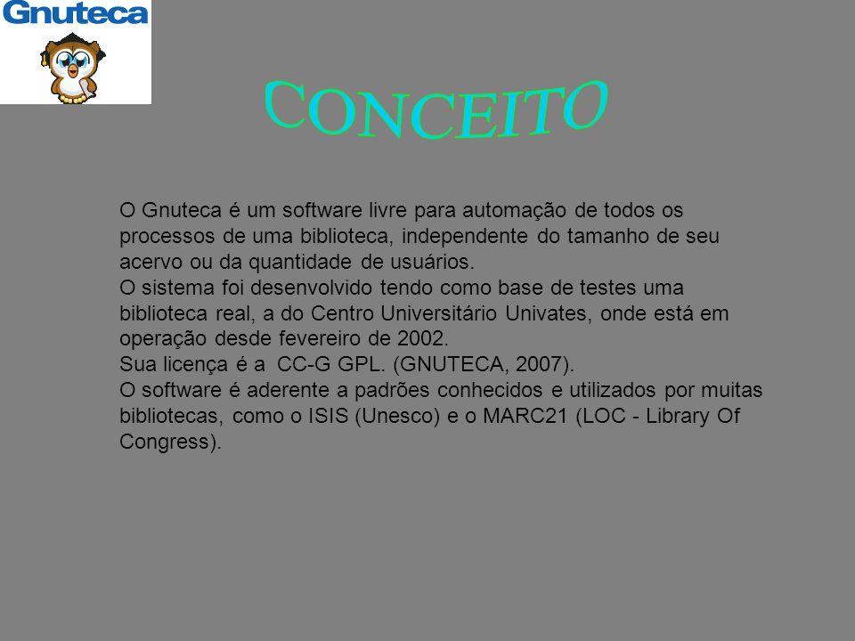 O Gnuteca é um software livre para automação de todos os processos de uma biblioteca, independente do tamanho de seu acervo ou da quantidade de usuários.