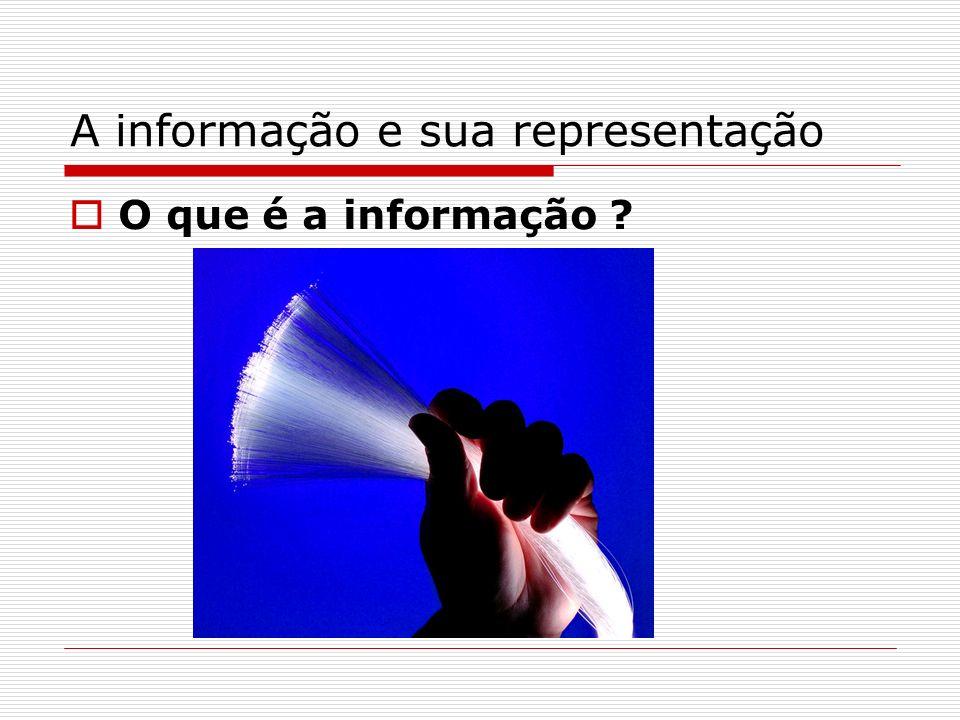 A informação e sua representação O que é a informação ?