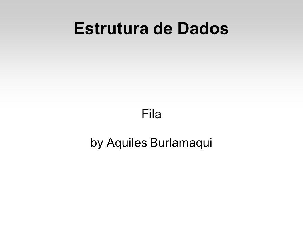 Estrutura de Dados Fila by Aquiles Burlamaqui