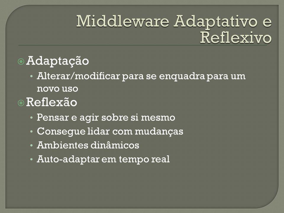 Adaptação Alterar/modificar para se enquadra para um novo uso Reflexão Pensar e agir sobre si mesmo Consegue lidar com mudanças Ambientes dinâmicos Au