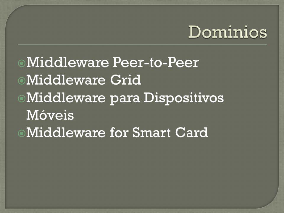 Middleware Peer-to-Peer Middleware Grid Middleware para Dispositivos Móveis Middleware for Smart Card