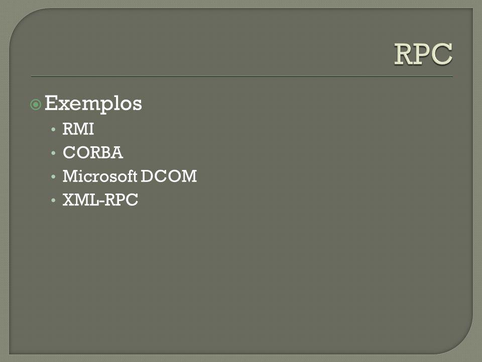 Exemplos RMI CORBA Microsoft DCOM XML-RPC