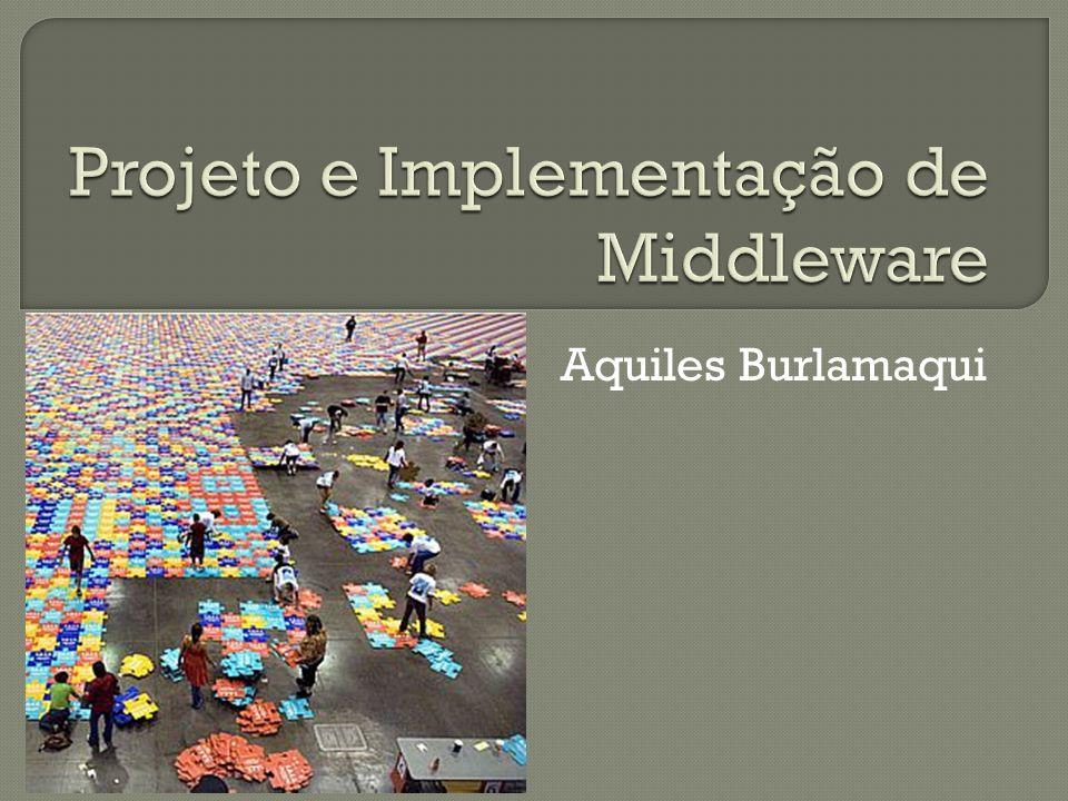 Introdução Fundamentos Modelos Serviços de Middleware Arquitetura de Middleware Padrões de Projeto para Middleware Middleware para TV Digital