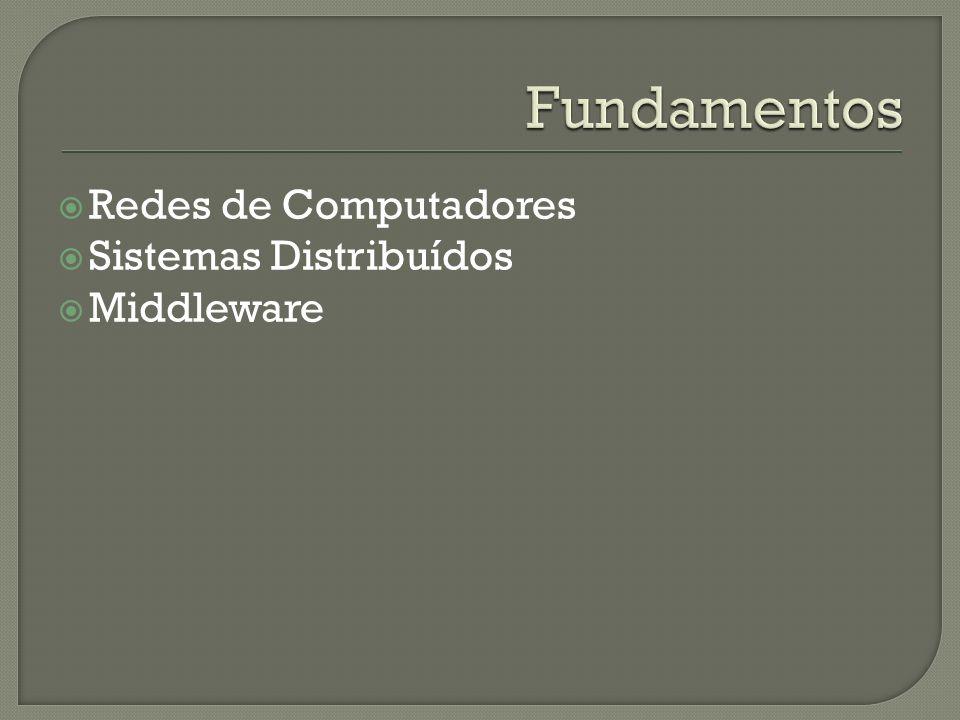 Redes de Computadores Sistemas Distribuídos Middleware