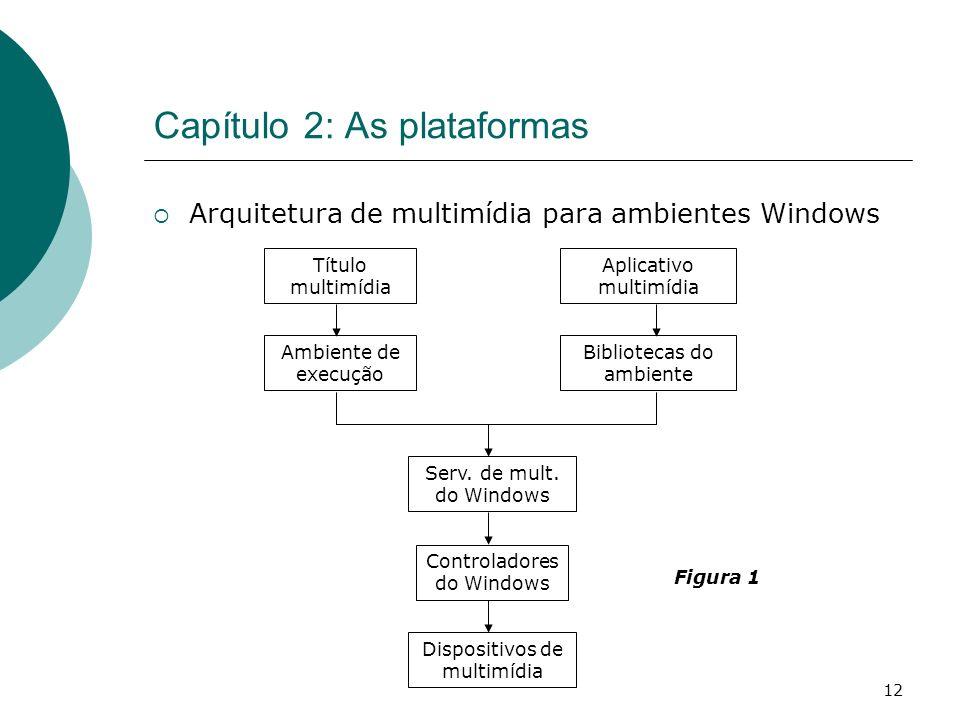 12 Capítulo 2: As plataformas Arquitetura de multimídia para ambientes Windows Serv.