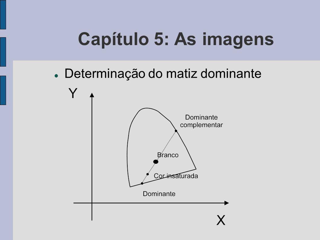 Capítulo 5: As imagens Determinação do matiz dominante