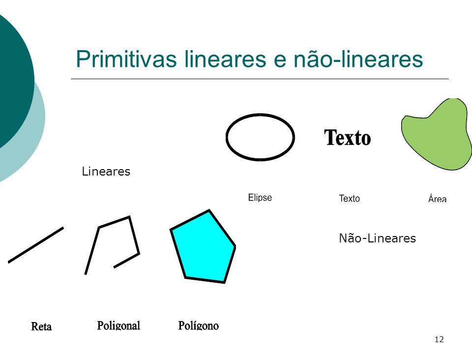 12 Primitivas lineares e não-lineares Lineares Não-Lineares