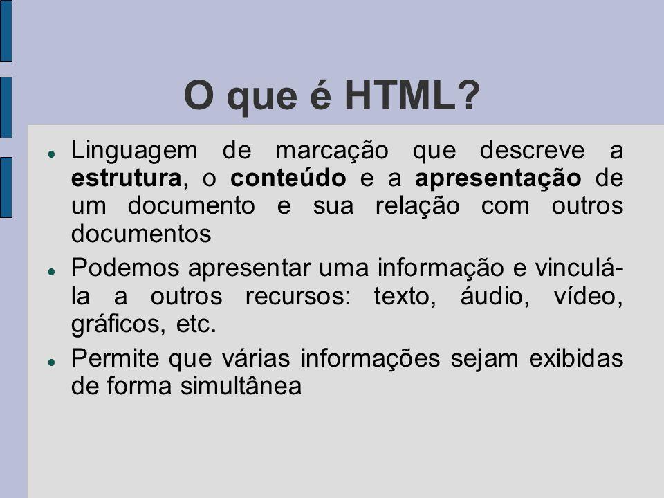 O que é HTML.