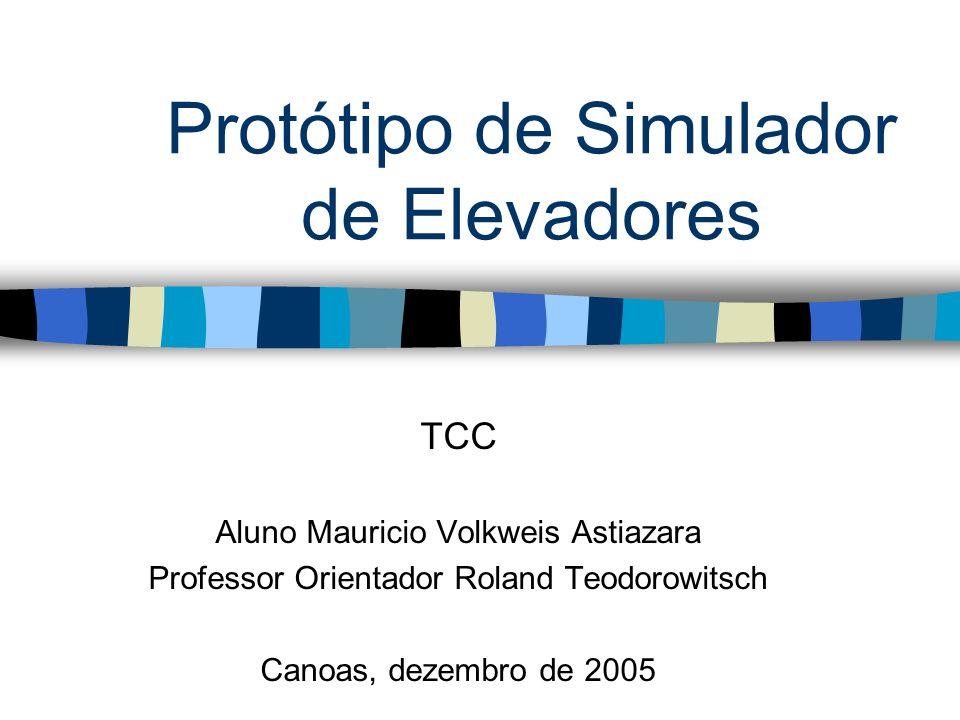 Protótipo de Simulador de Elevadores TCC Aluno Mauricio Volkweis Astiazara Professor Orientador Roland Teodorowitsch Canoas, dezembro de 2005