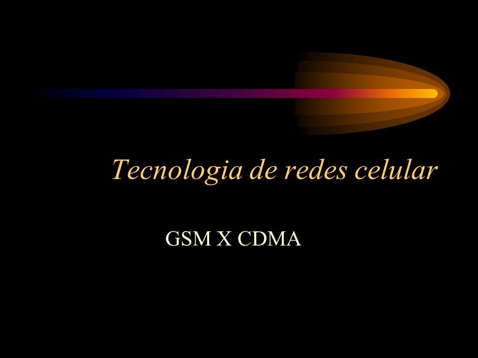 GSM (Global Standard Mobile) GSM (Global Standard Mobile) – Também baseado na divisão de tempo do TDMA, o GSM foi adotado como único sistema europeu em 1992, e se espalhou pelo mundo pela padronização de seus recursos avançados.