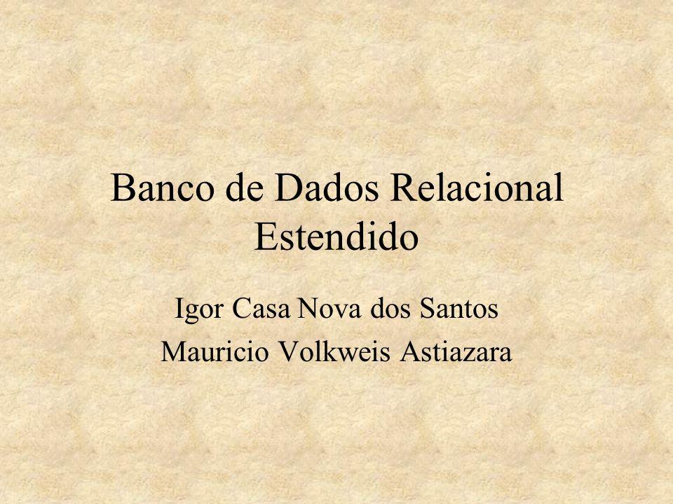 Modelo Relacional Encaixado Características O modelo relacional encaixado é uma extensão do módulo relacional no qual os domínios podem ser valores atômicos ou assumirem valores que são relações.