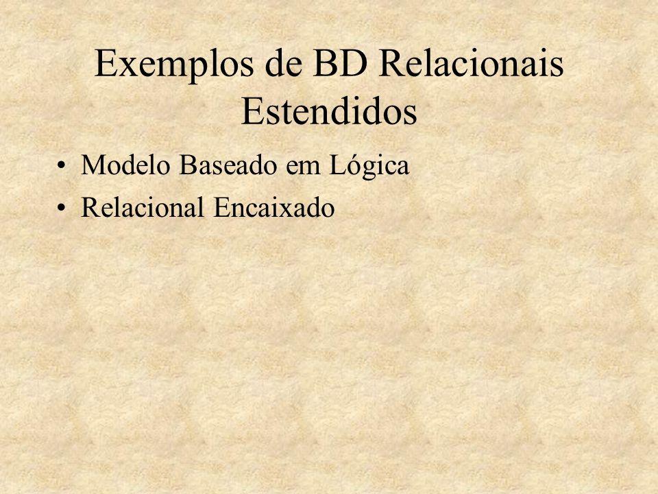Exemplos de BD Relacionais Estendidos Modelo Baseado em Lógica Relacional Encaixado