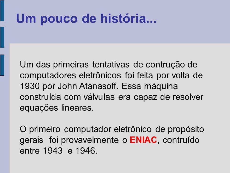 No ENIAC os programas e os dados eram armazenados em memória separada.