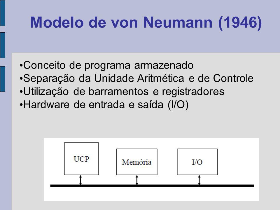 Em 1946, John von Neumann e sua equipe iniciaram o projeto de um computador de programa armazenado: o computador IAS, elaborado no Instituto de Estudos Avançados de Princeton.