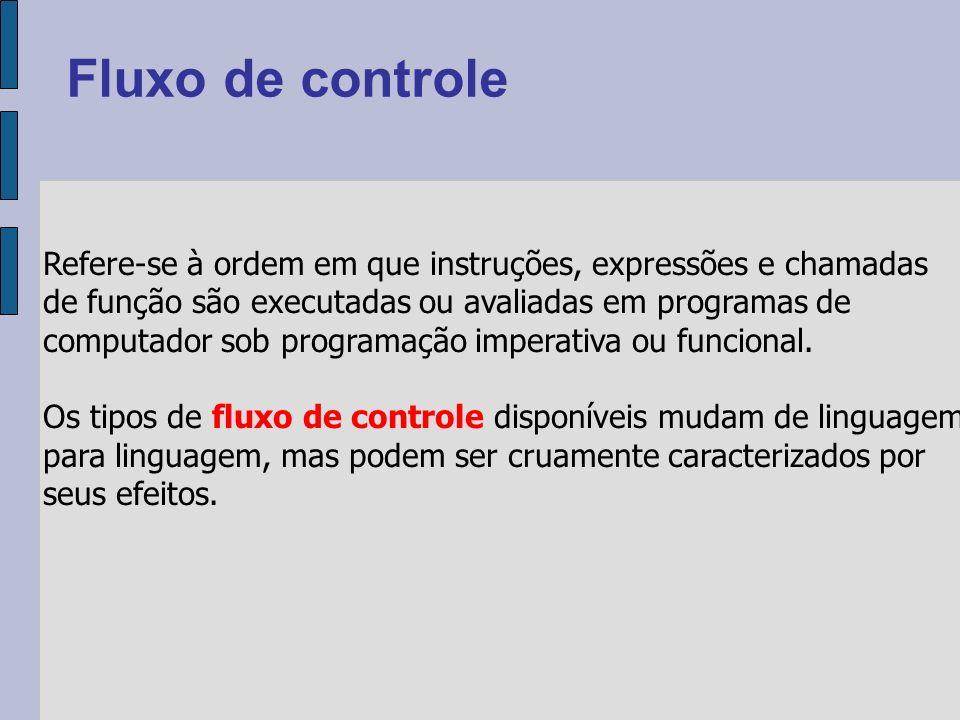 Refere-se à ordem em que instruções, expressões e chamadas de função são executadas ou avaliadas em programas de computador sob programação imperativa ou funcional.