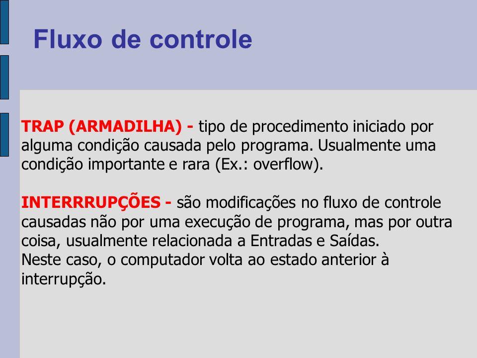 TRAP (ARMADILHA) - tipo de procedimento iniciado por alguma condição causada pelo programa.