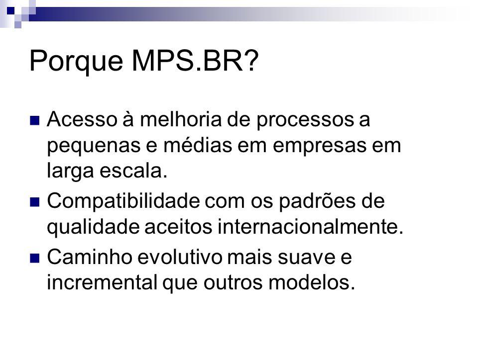 Porque MPS.BR.Acesso à melhoria de processos a pequenas e médias em empresas em larga escala.