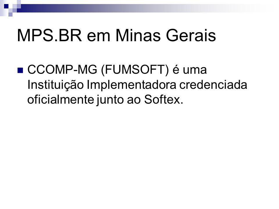 CCOMP-MG (FUMSOFT) é uma Instituição Implementadora credenciada oficialmente junto ao Softex.
