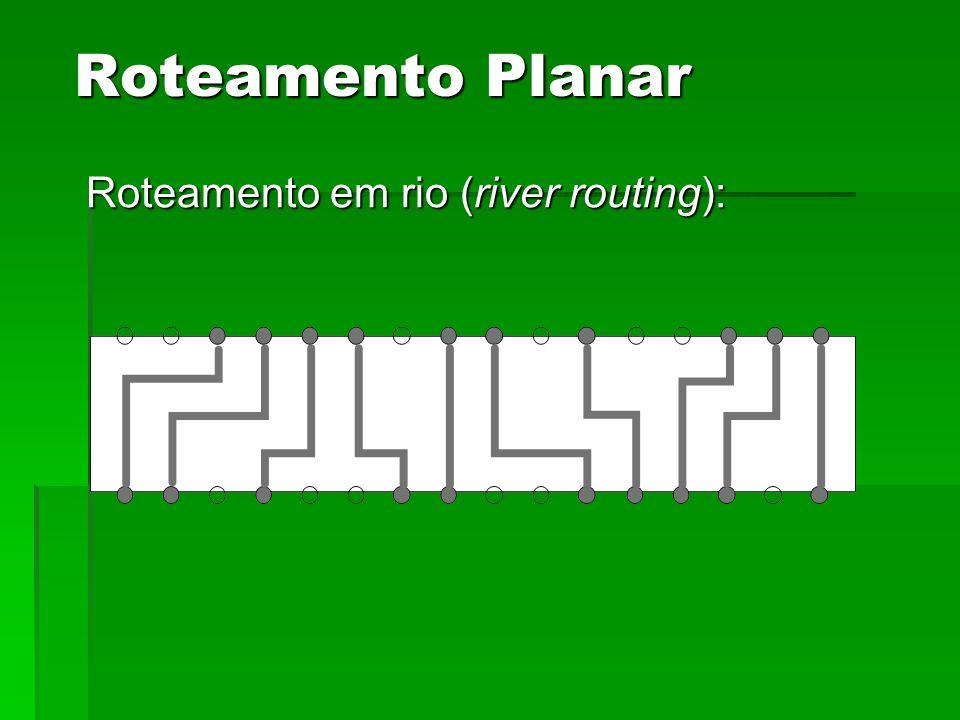 Roteamento em rio (river routing): Roteamento Planar