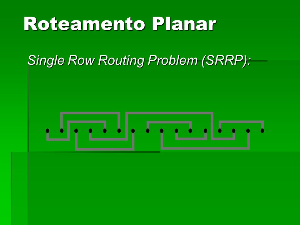 Single Row Routing Problem (SRRP): Roteamento Planar