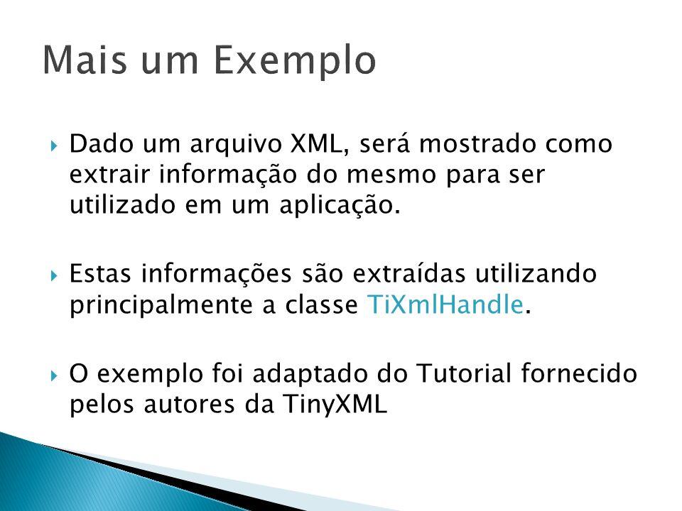 Dado um arquivo XML, será mostrado como extrair informação do mesmo para ser utilizado em um aplicação. Estas informações são extraídas utilizando pri