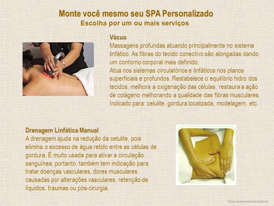 Monte você mesmo seu SPA Personalizado Vácuo Massagens profundas atuando principalmente no sistema linfático. As fibras do tecido conectivo são alonga