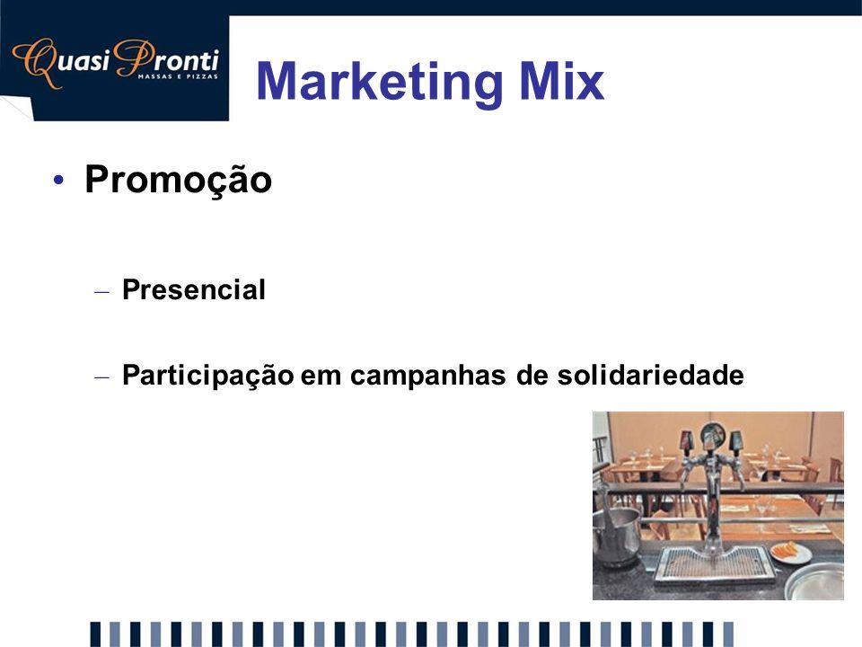 Marketing Mix Promoção – Presencial – Participação em campanhas de solidariedade