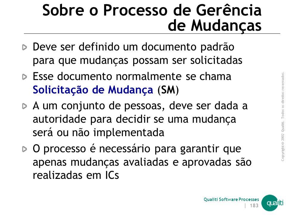 Qualiti Software Processes Processo de Gerência de Mudanças