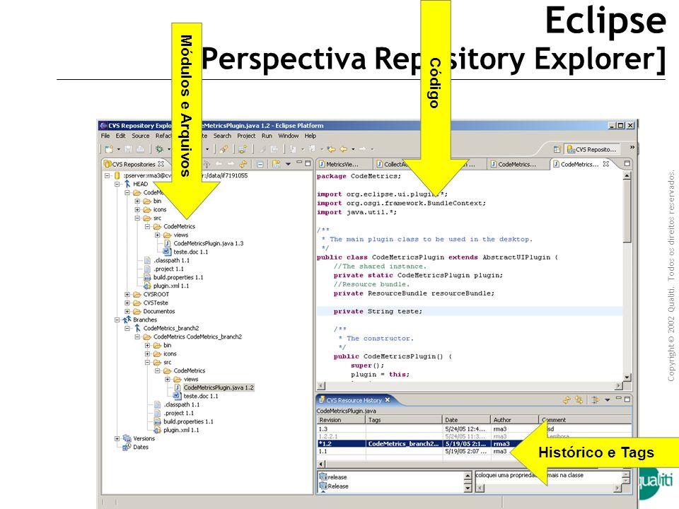 Copyright © 2002 Qualiti. Todos os direitos reservados. Qualiti Software Processes TortoiseCVS arquivos Ícone de estado arquivos operações