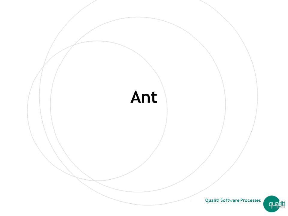 Copyright © 2002 Qualiti. Todos os direitos reservados. Qualiti Software Processes Comparação Maven vs Ant + Ivy | 234 CritérioAnt + IvyMaven Instalaç