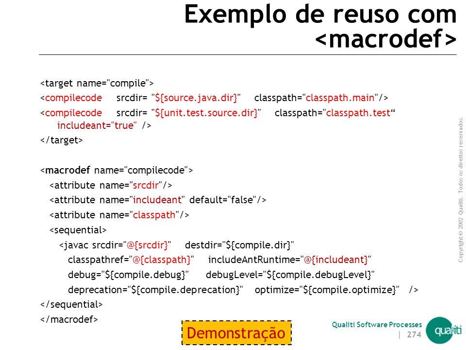 Copyright © 2002 Qualiti. Todos os direitos reservados. Qualiti Software Processes Boas Práticas Projete seus scripts  Padronize e simplifique script