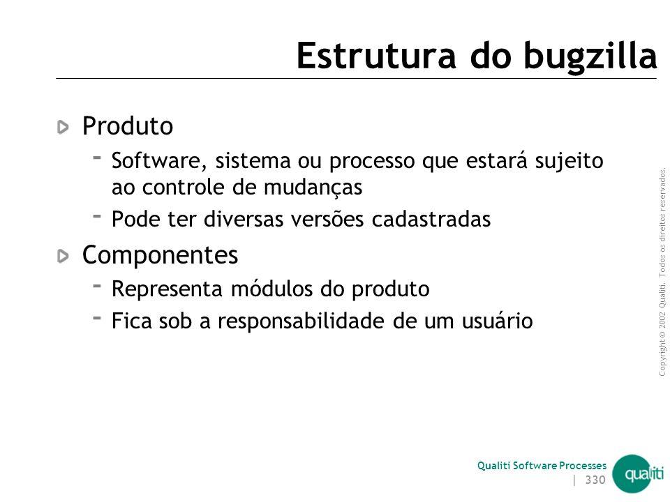Copyright © 2002 Qualiti. Todos os direitos reservados. Qualiti Software Processes | 329 Desvantagens Documentação pouco detalhada Segurança  Login a