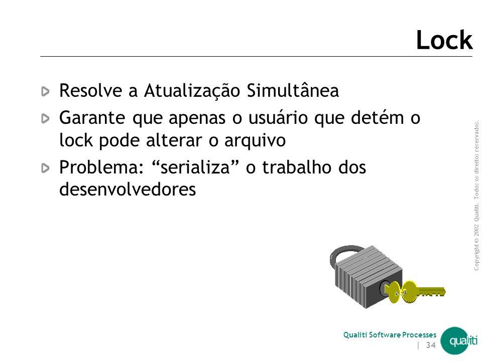 Copyright © 2002 Qualiti. Todos os direitos reservados. Qualiti Software Processes | 33 Repositório Local (físico e lógico) onde os itens de um sistem