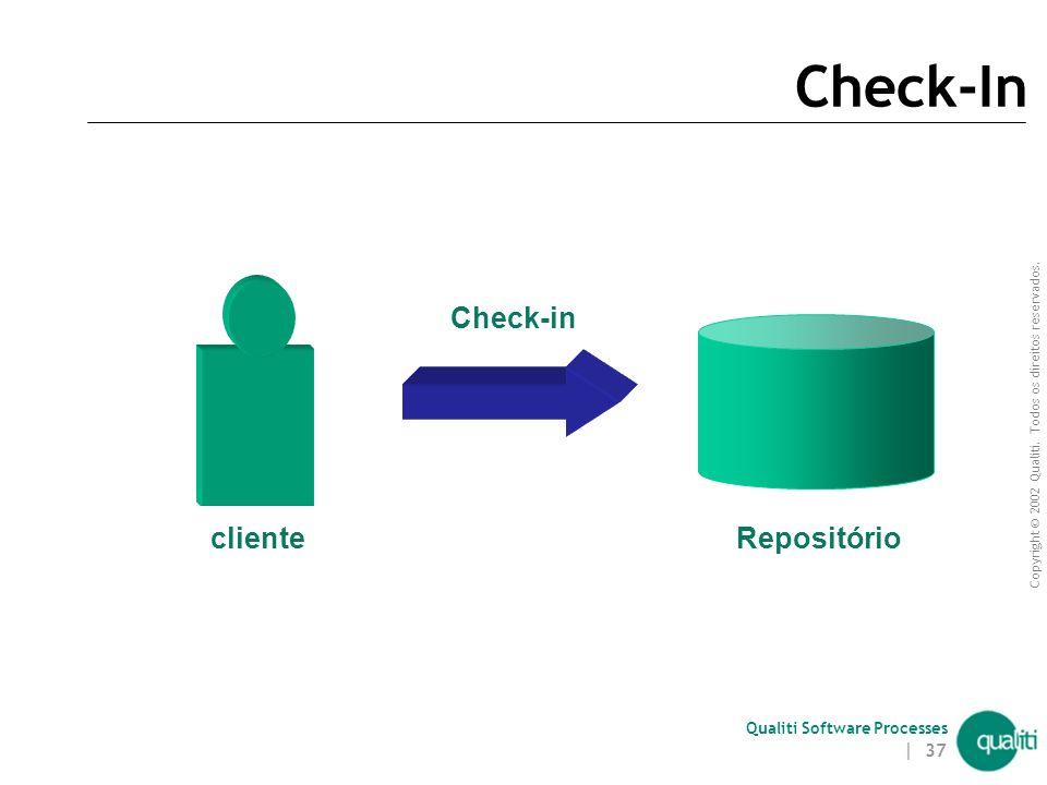 Copyright © 2002 Qualiti. Todos os direitos reservados. Qualiti Software Processes | 36 Check-Out (continuação) Recuperar a (última) versão de um item